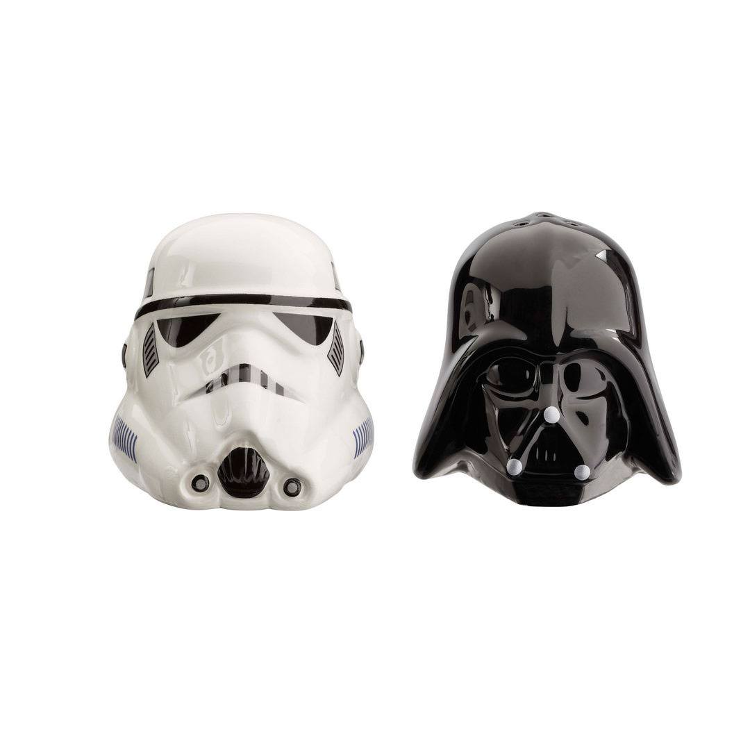 Star Wars Salt and Pepper Shakers Darth Vader & Stormtrooper Helmet