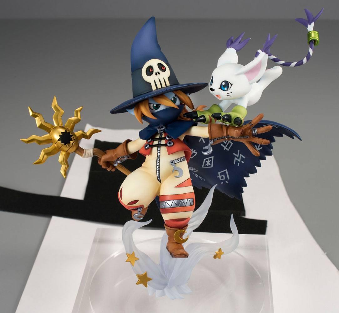Digimon Adventure G.E.M. Series PVC Statue Wizardmon & Tailmon 18 cm