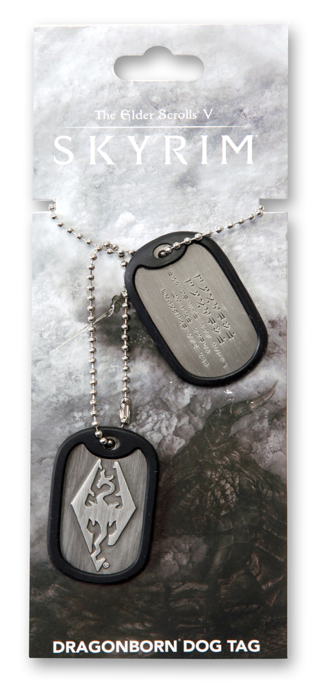 The Elder Scrolls V Skyrim Dog Tags with ball chain Dragonborn