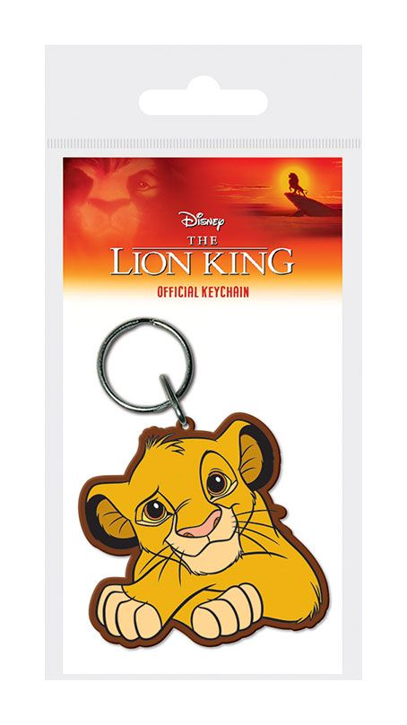 The Lion King Rubber Keychain Simba 6 cm
