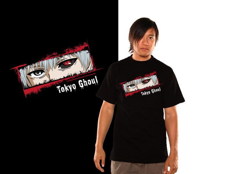 Tokyo Ghoul T-Shirt Kaneki Eyes Size S