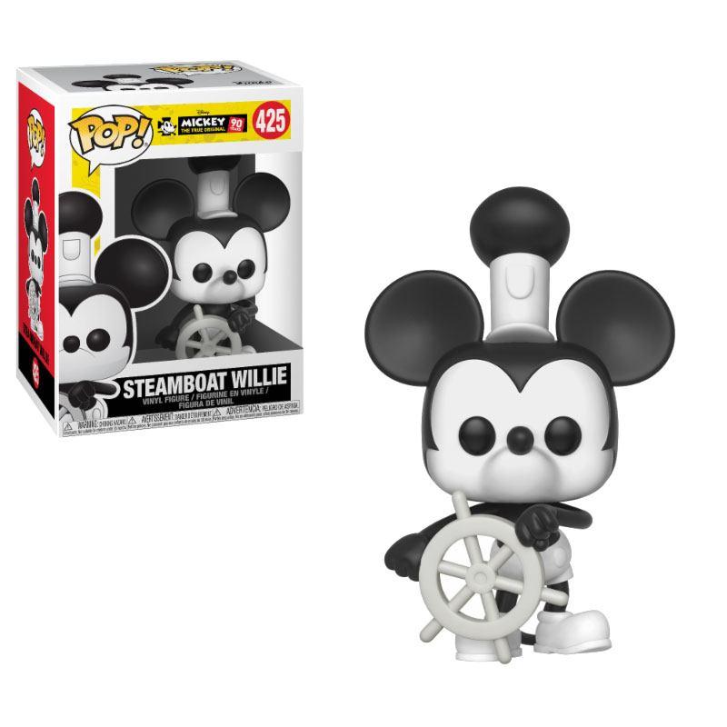 Mickey Maus 90th Anniversary POP! Disney Vinyl Figure Steamboat Willie 9 cm
