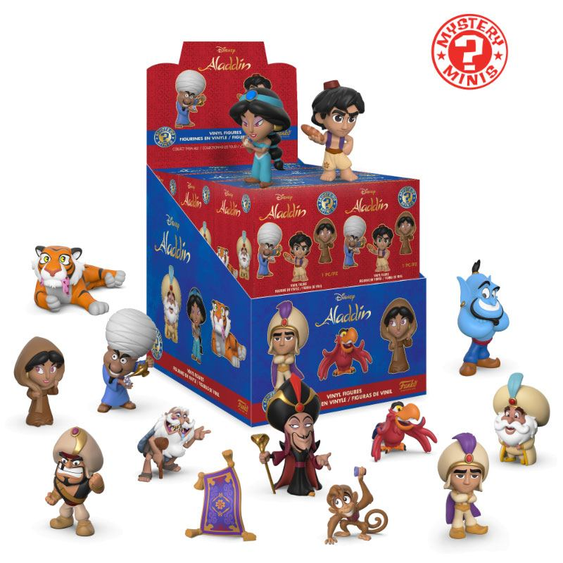 Aladdin Mystery Minis Vinyl Mini Figures 6 cm Display Classic (12)