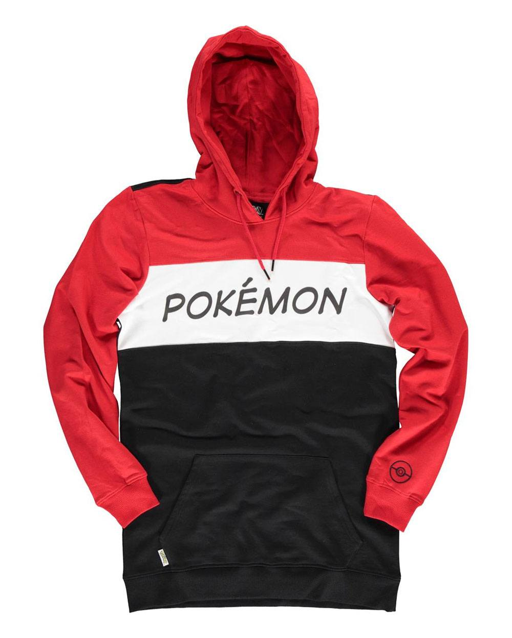Pokémon Hooded Sweater Colour Block Size S
