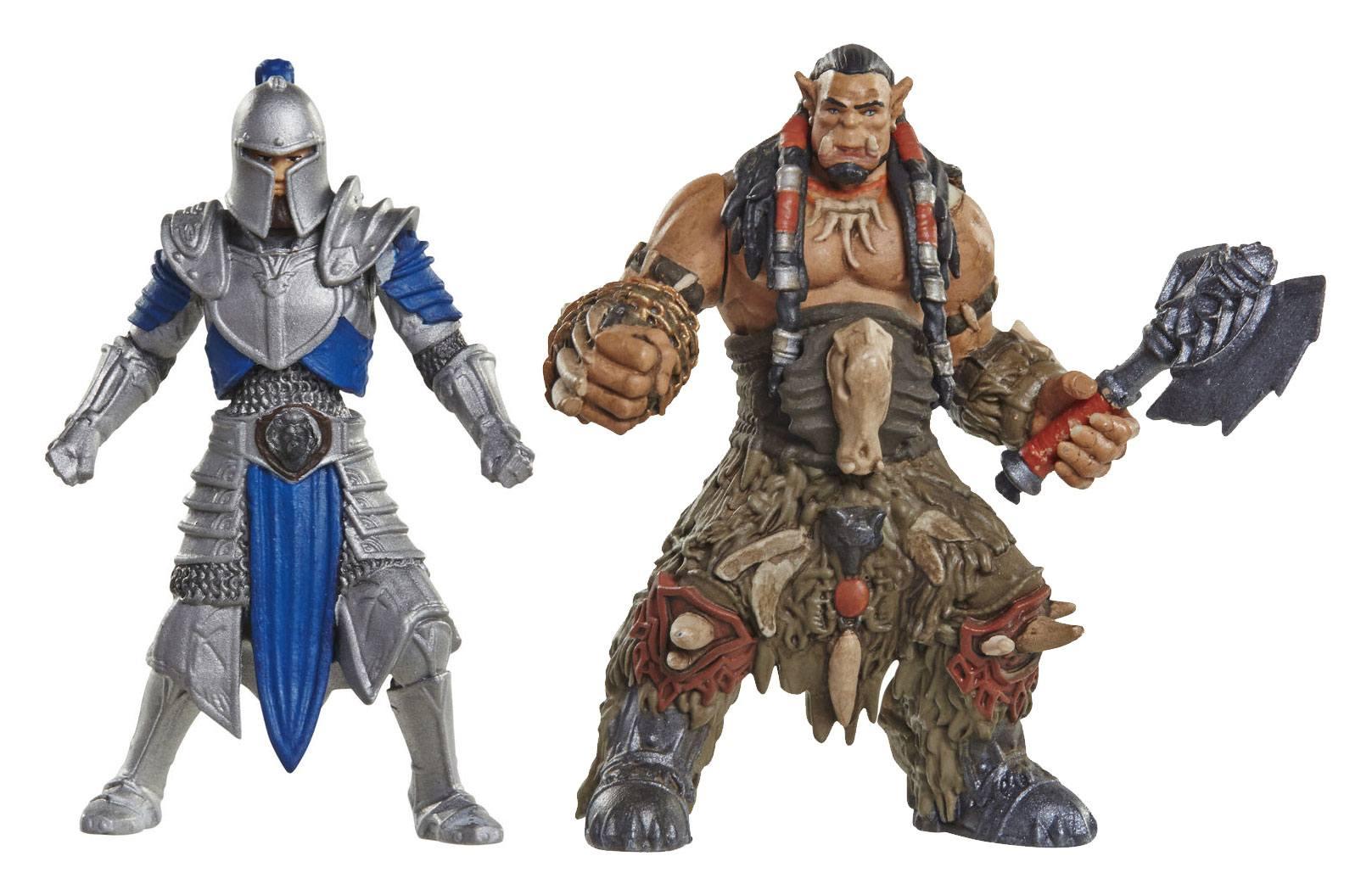 Warcraft Mini Figure 2-Pack Alliance Soldier vs. Durotan 6 cm