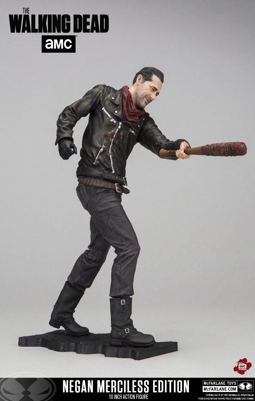 The Walking Dead TV Version Deluxe Action Figure Negan Merciless Edition 25 cm --- DAMAGED PACKAGING