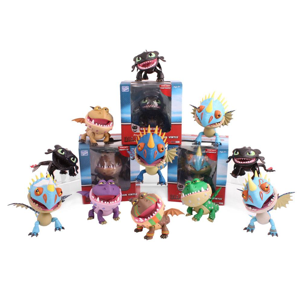 How to Train Your Dragon Action Vinyl Mini Figures 8 cm Dragons Display (12)