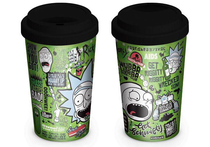 Rick and Morty Travel Mug Quotes