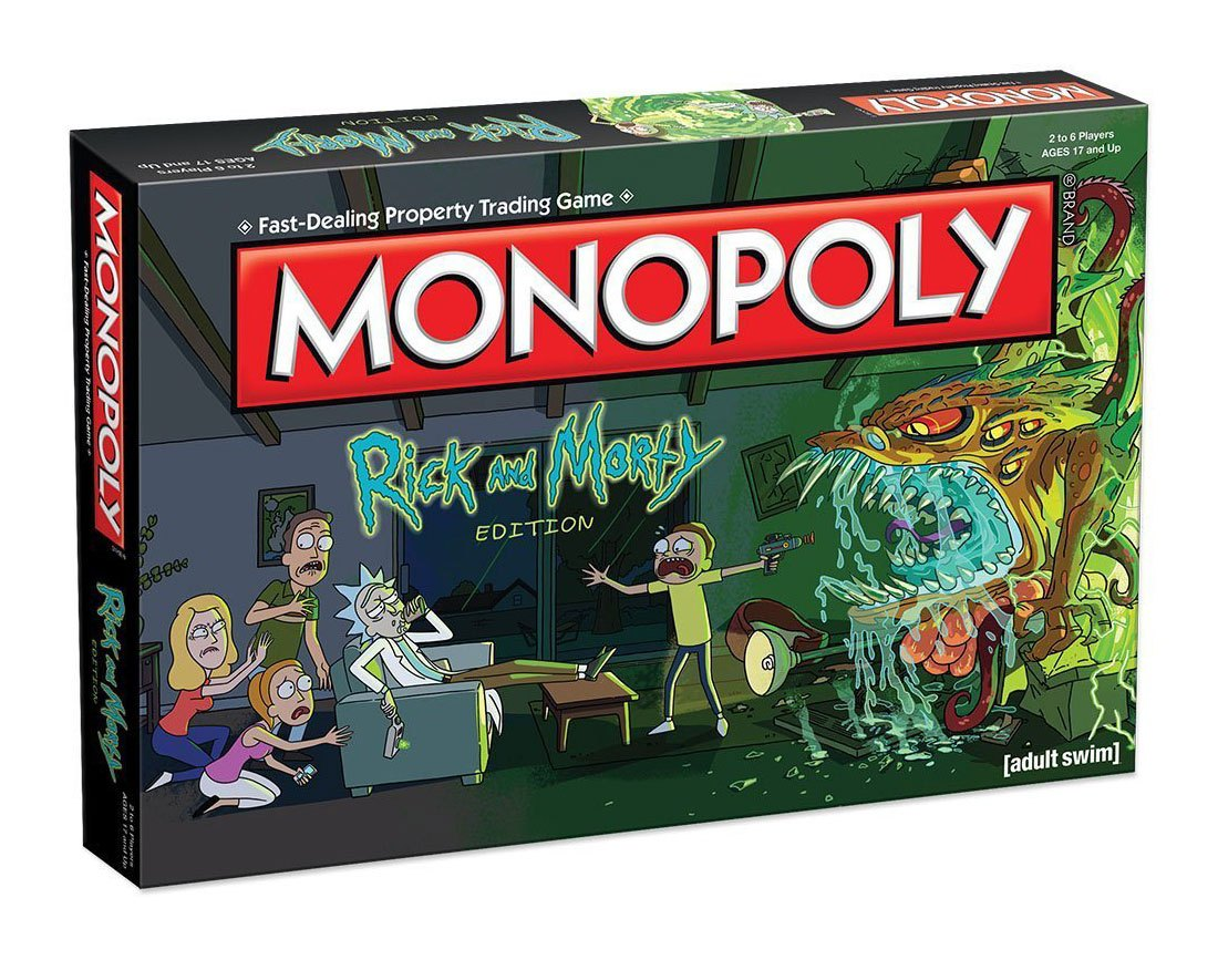 Rick and Morty Board Game Monopoly *English Version* --- DAMAGED PACKAGING