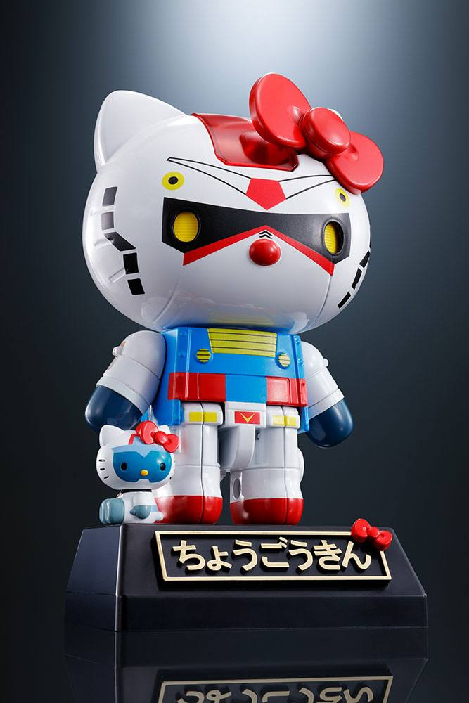 Hello Kitty Chogokin Diecast Action Figure Hello Kitty Gundam Color Ver. 11 cm