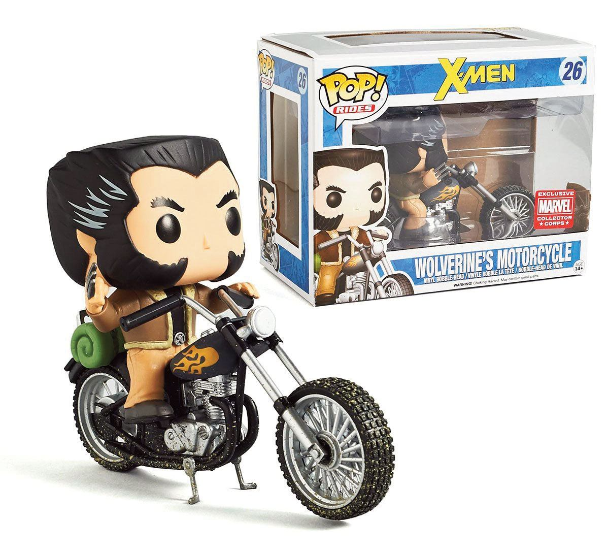 X-Men POP! Rides Vinyl Vehicle with Figure Motorcycle & Wolverine 16 cm