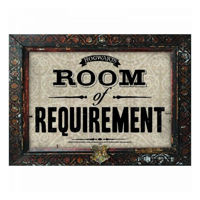 Harry Potter Tin Sign Room of Requirement 41 x 30 cm