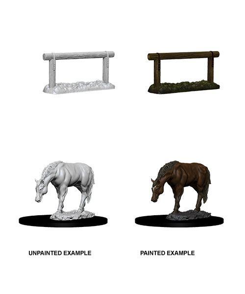 WizKids Deep Cuts Unpainted Miniature Horse & Hitch Case (6)
