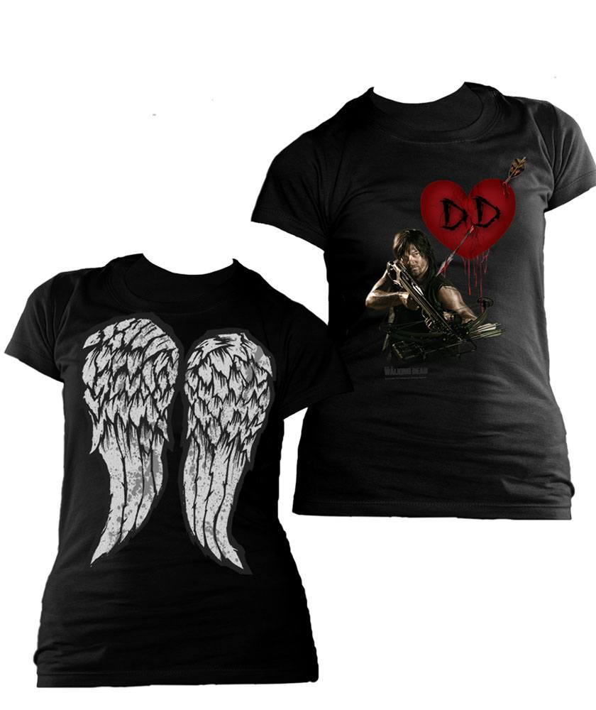 The Walking Dead Ladies T-Shirt Daryl Dixon Love Size L