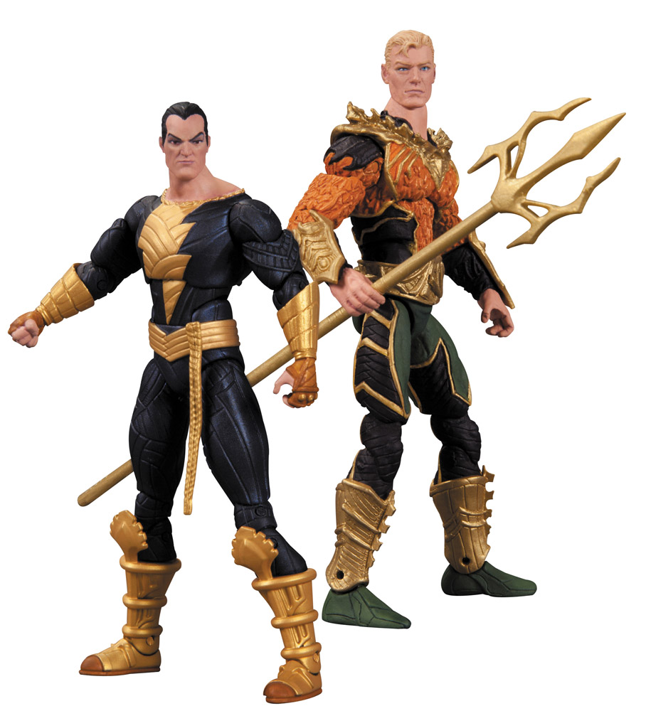 Injustice Action Figure 2-Pack Aquaman vs. Black Adam 10 cm --- DAMAGED PACKAGING