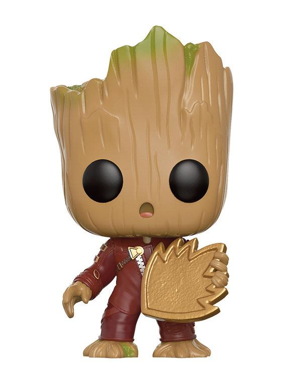 Guardians of the Galaxy 2 POP! Vinyl Bobble-Head Young Groot with Shield 9 cm