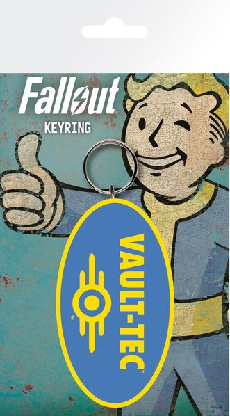 Fallout Rubber Keychain Vault Tec 7 cm