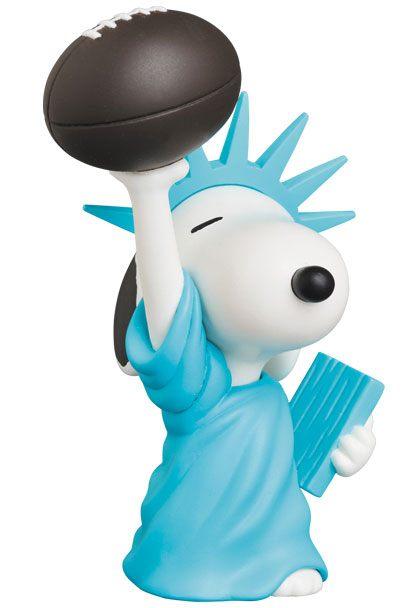 Peanuts UDF Series 9 Mini Figure Statue of Liberty Snoopy 9 cm