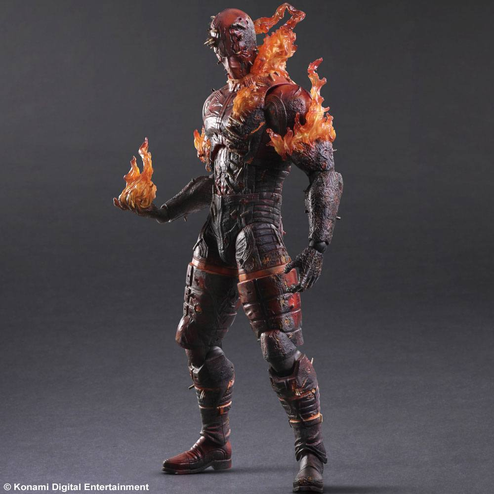 Metal Gear Solid V The Phantom Pain Play Arts Kai Action Figure Man on Fire 29 cm --- DAMAGED PACKAG