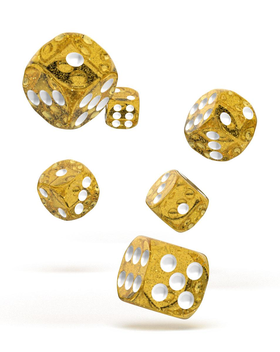 Oakie Doakie Dice D6 Dice 16 mm Speckled - Orange (12)