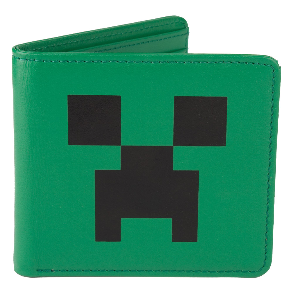 Minecraft Leather Wallet Creeper Face