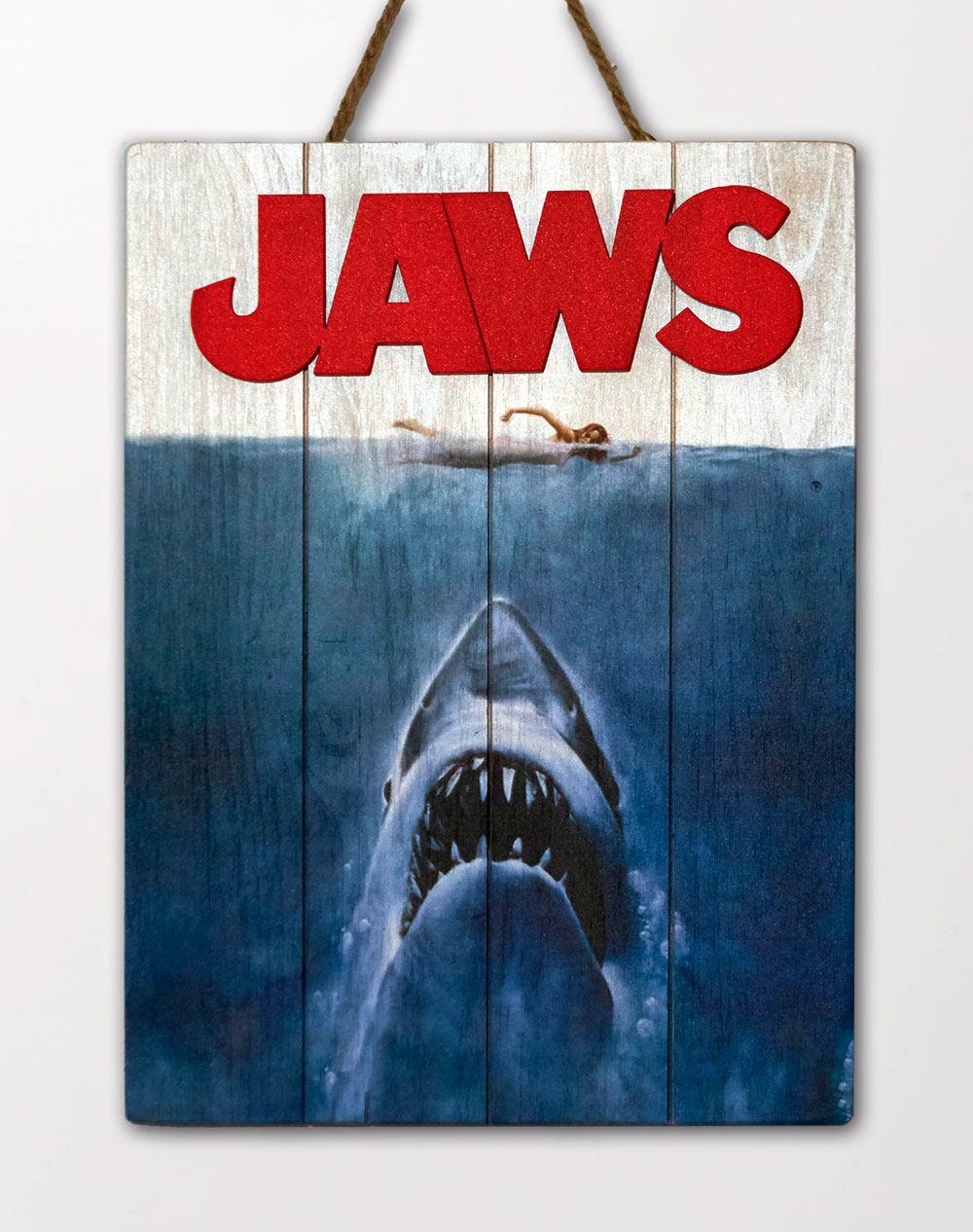 Jaws WoodArts 3D Wooden Wall Art Shark Attack 30 x 40 cm