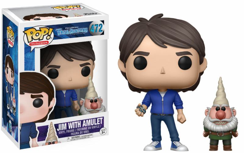Trollhunters POP! Television Vinyl Figure Jim with Amulet & Gnome 9 cm