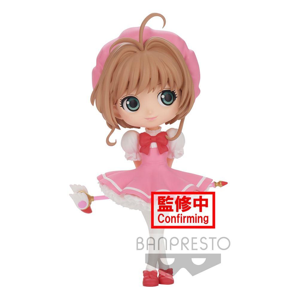 Cardcaptor Sakura Clow Card Q Posket Mini Figure Sakura Kinomoto Ver. B 14 cm