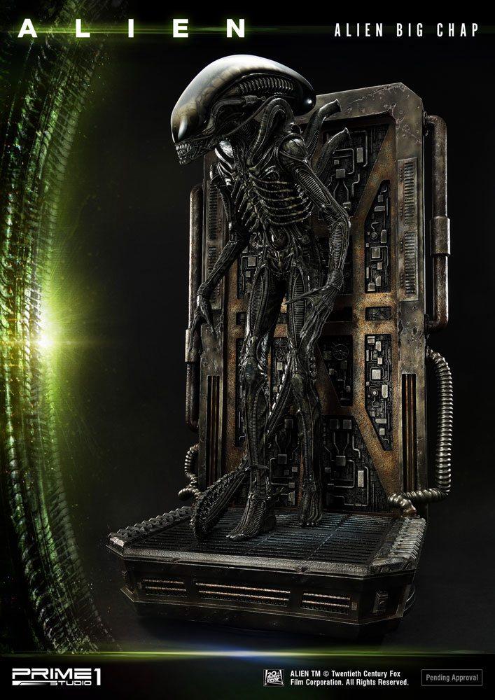 Alien Museum Art Statue / Wall Art Alien Big Chap Action 88 cm