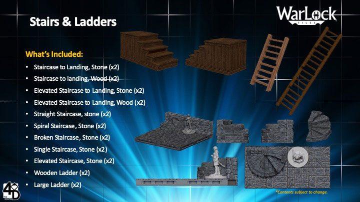 WarLock™ Tiles: Stairs & Ladders
