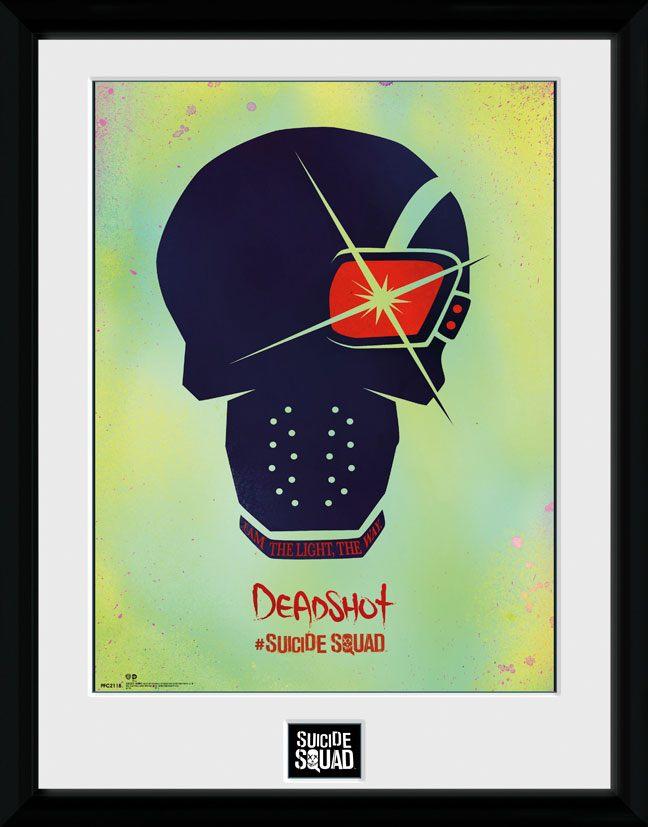 Suicide Squad Framed Poster Deadshot Skull 45 x 34 cm