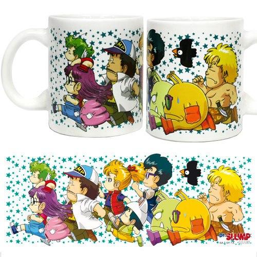 Dr. Slump Mug Characters Running
