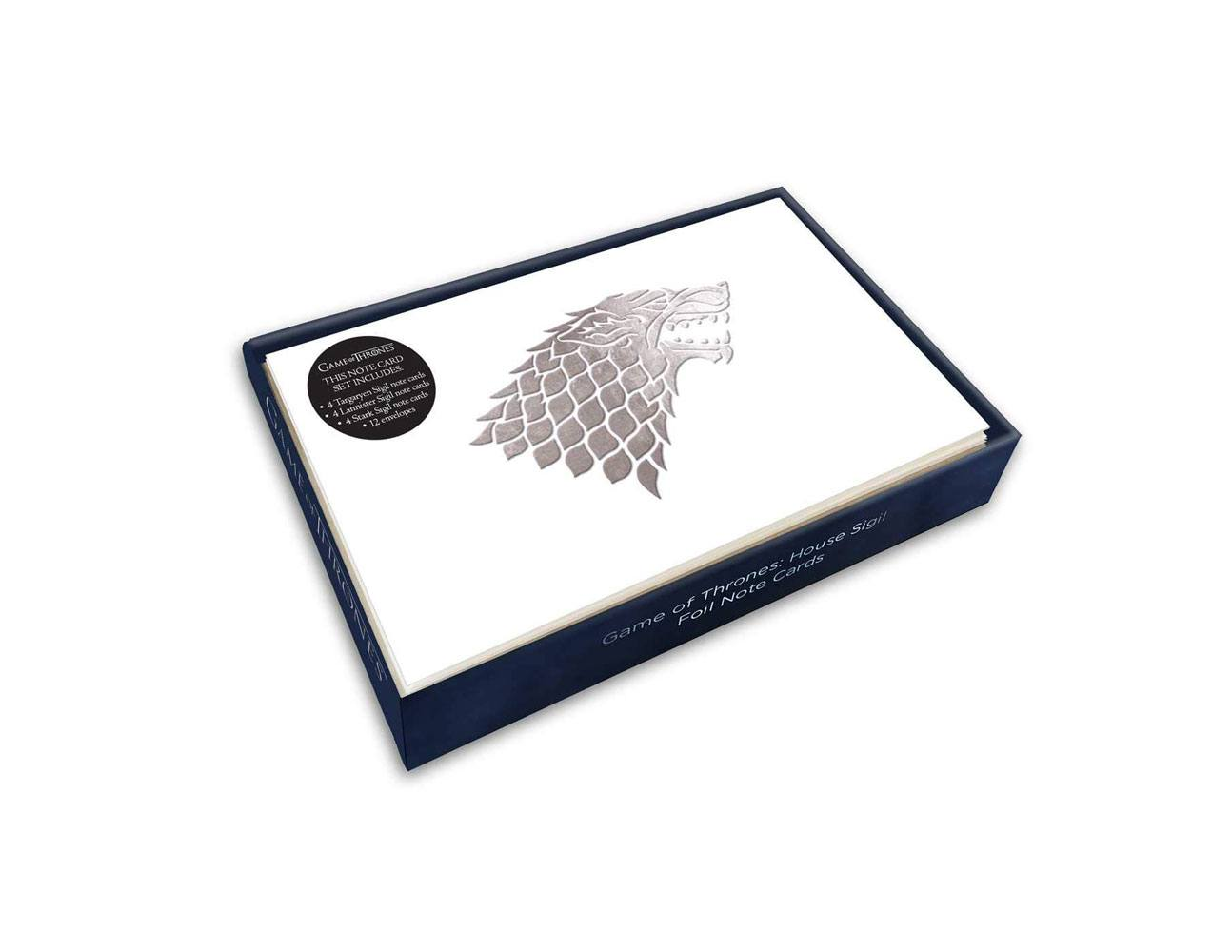 Game of Thrones Foil Note Cards 12-Pack House Sigil 89 x 132 mm