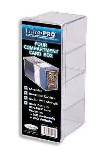 Ultra Pro Four Compartment Card Box