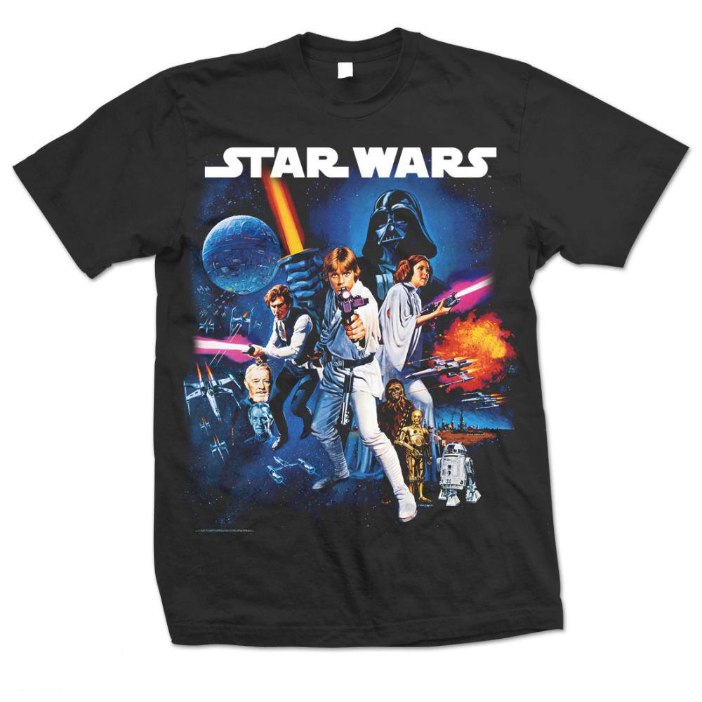 Star Wars T-Shirt Space Montage Size L