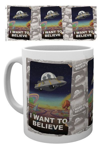 Rick and Morty Mug I Want To Believe