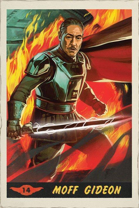 Star Wars The Mandalorian Poster Pack Moff Gideon Card 61 x 91 cm (5)