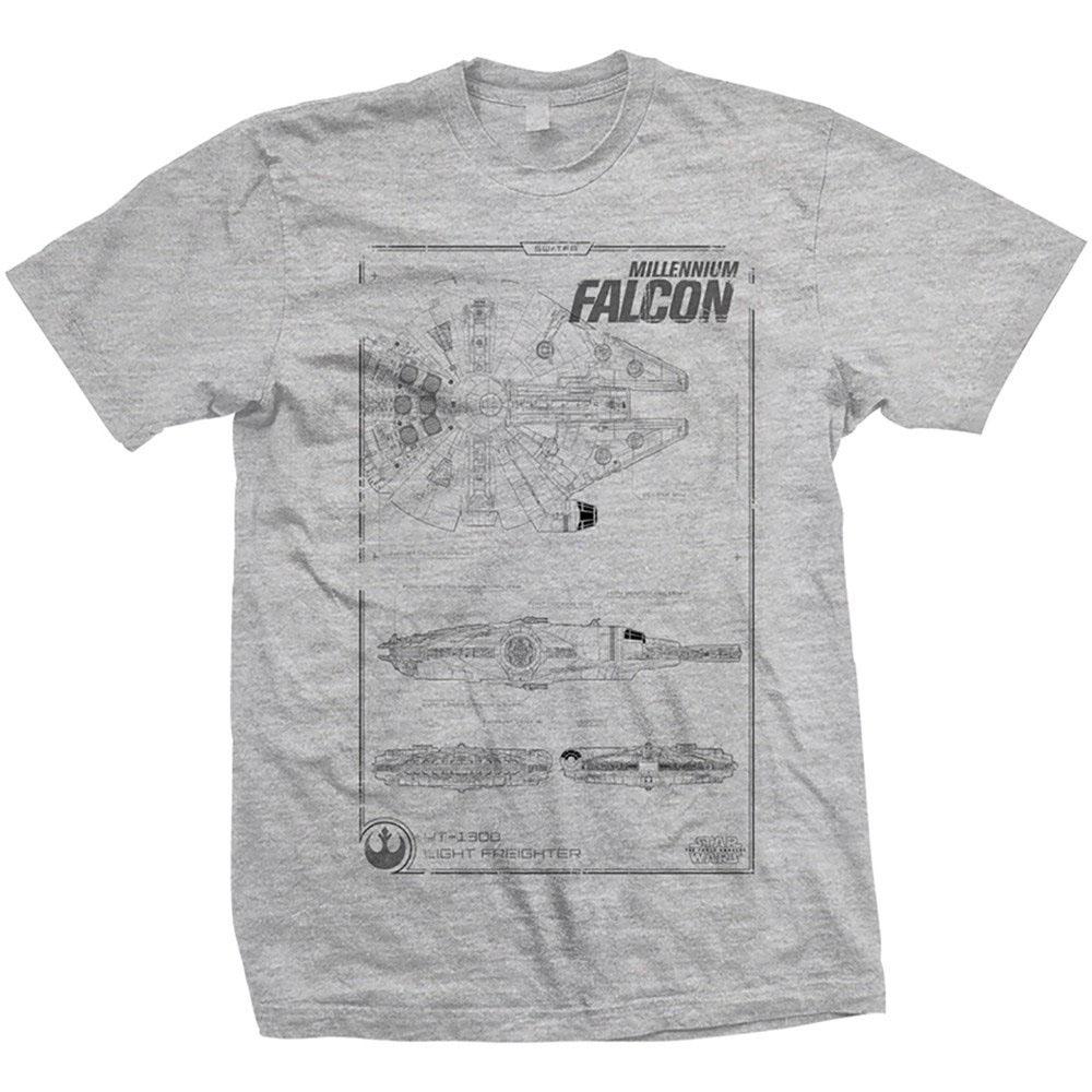 Star Wars Episode VII T-Shirt Millennium Falcon  Size XL