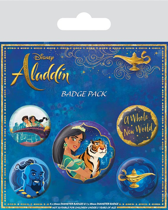 Aladdin Pin Badges 5-Pack A Whole New World