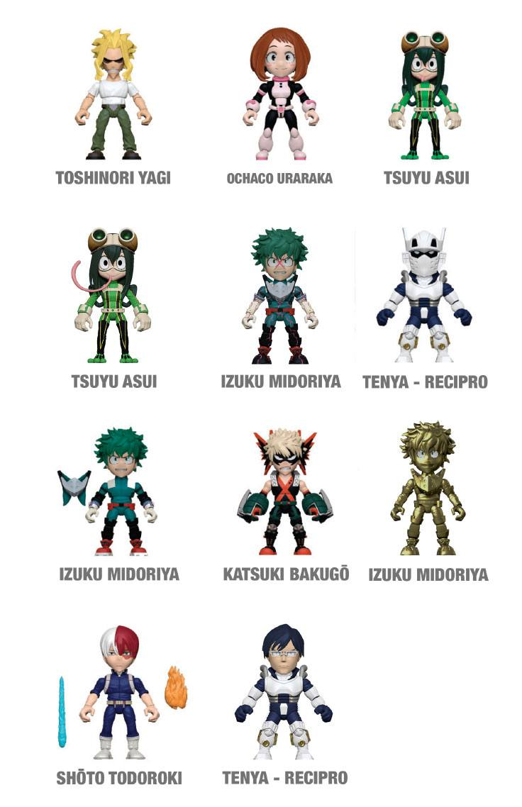 My Hero Academia Action Vinyls Mini Figures 8 cm Display (12)