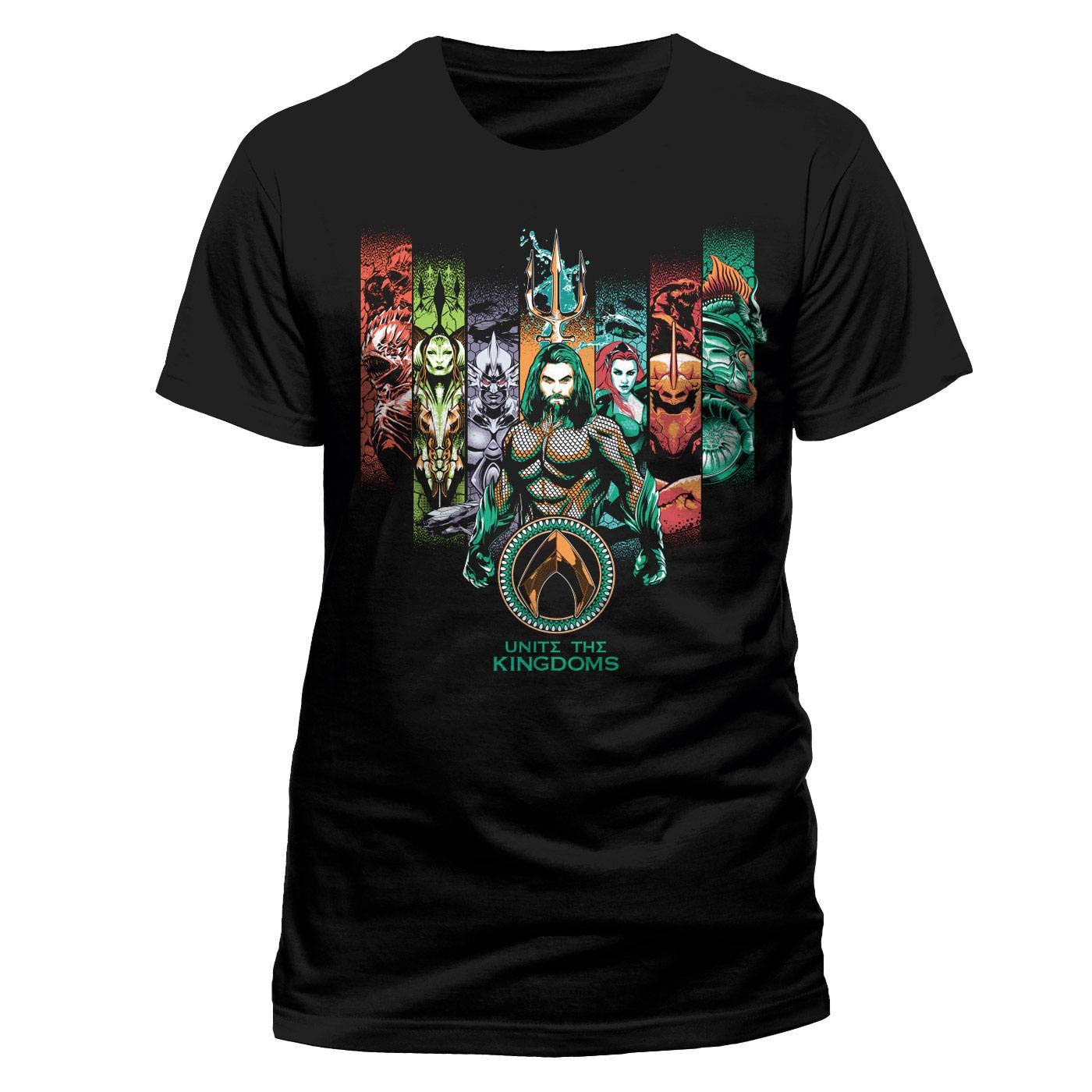 Aquaman Movie T-Shirt Unite The Kingdoms Size S