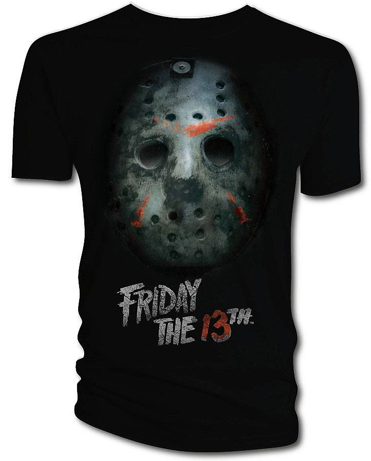 Friday the 13th T-Shirt Bloody Mask  Size L
