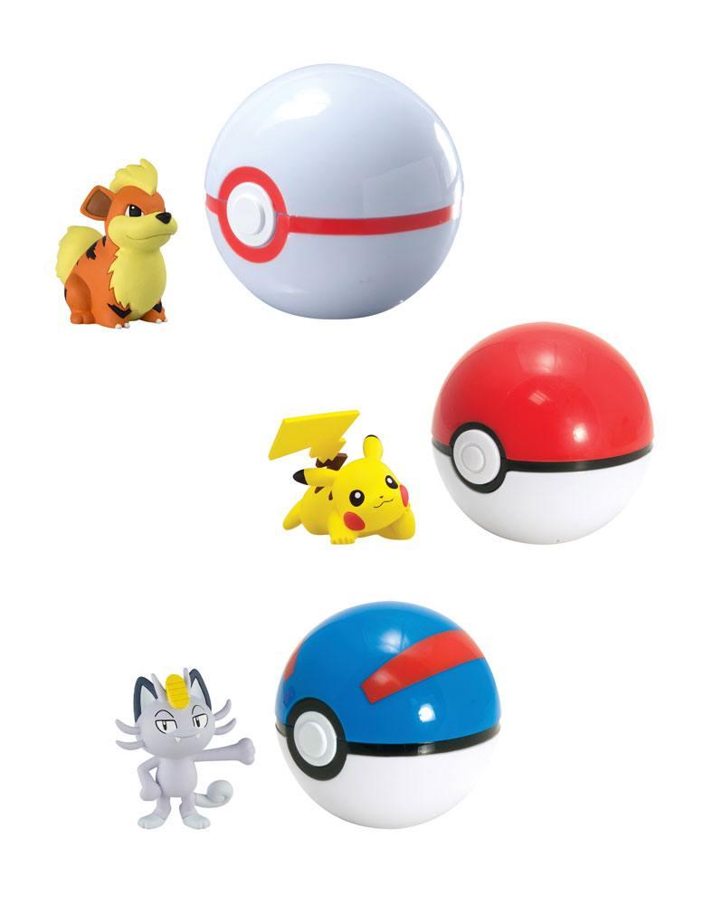 Pokemon Clip´n´Carry Poké Ball Wave D12 Assortment (6)