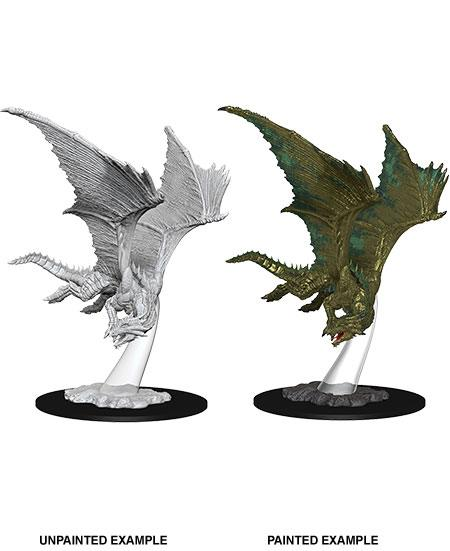 D&D Nolzur's Marvelous Miniatures Unpainted Miniature Young Bronze Dragon Case (6)