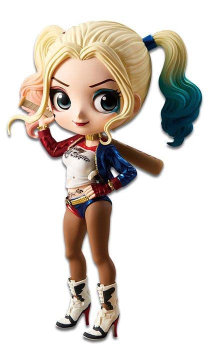 Suicide Squad Q Posket Mini Figure Harley Quinn A Normal Color Version 14 cm