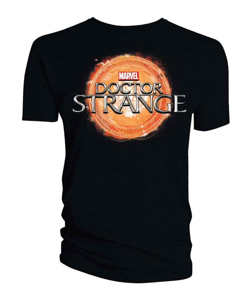 Doctor Strange T-Shirt Logo black Size S