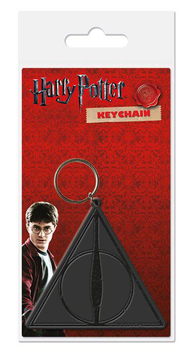 Harry Potter Rubber Keychain Deathly Hallows 6 cm