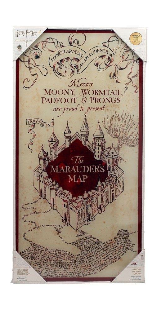 Harry Potter Glass Poster Marauder's Map 30 x 60 cm