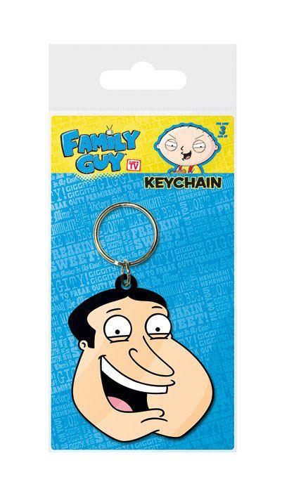 Family Guy Rubber Keychain Quagmire Face 6 cm