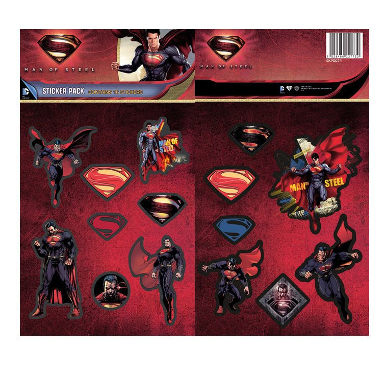 DC Comics Vinyl Sticker Pack Man Of Steel (10)